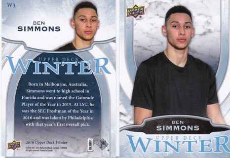 2016 Upper Deck Winter Ben Simmons Rookie #W3