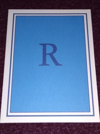 Notecards - R