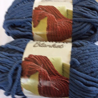 Tow (2) 5.3 oz  Country Blue  Polyester Blanket Yarns. Net weight 10.3 Oz. #1