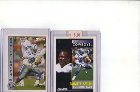 Lot of (2) TOP NOTCH SET CARDS OF EMMITT SMITH