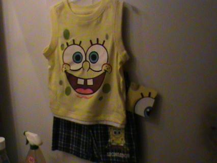 3t SpongeBob Shirt & Shorts Set