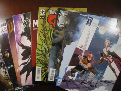 Set of 9 Fantasy/Horror Indie Comics-Hoax Hunters,Dungeons & Dragons,Shadows On The Grave