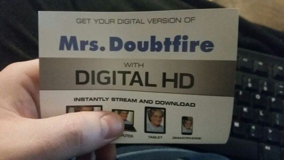 Mrs. Doubtfire Digital HD Code