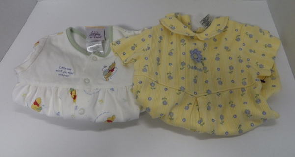 Osh Kosh and Winnie the Pooh Open Footed Sleepers Size 0-6 mos 3-6 mos