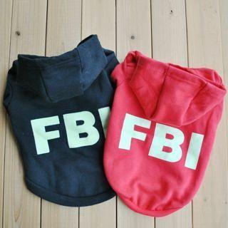 [GIN FOR FREE SHIPPING] Pet Dog Cat Winter FBI Hoodie Cute T-Shirt Soft Warm Coat