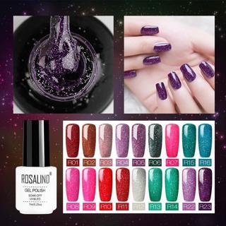 ROSALIND Gel For Nail Polish Set uv 7ML White Bottle Nails Art Gel Soak Off Rainbow Series Set For