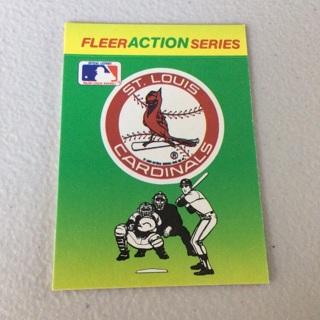 1990 Fleer - Team Stickers Inserts #STL St. Louis Cardinals