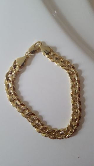 14k gold mens bracelet
