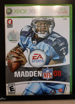 Madden NFL 08 (Xbox 360, 2007, Like New Condition)