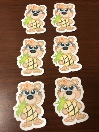 Tropical Pineapple Bear Clipart Print N Cut / FREE SHIPPING