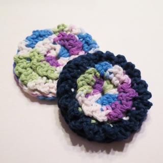 Handmade reusable face scrubby, crochet cotton bath scrub Set of two