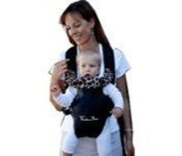 9ab959d0dd9 Free  Theodore Bean black leather baby carrier   cheap GIN   - Other ...