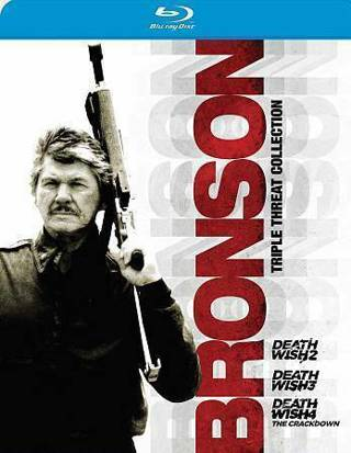 new!blu-ray-triple feature-death wish 2,3,&4-charles bronson-action