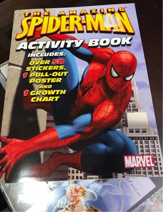 Free Brand New Gift Quality The Spider Man Activity Book Growth