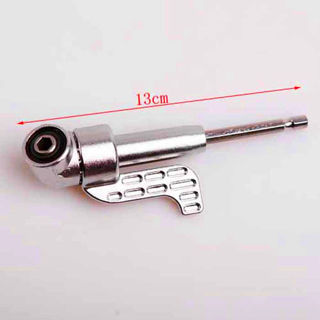 Steel 105° Right Angle Driver Hex Screwdriver Holder Power Drill Bit Adjustable