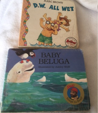2 Board Books,  Baby Beluga and D W All Wet.