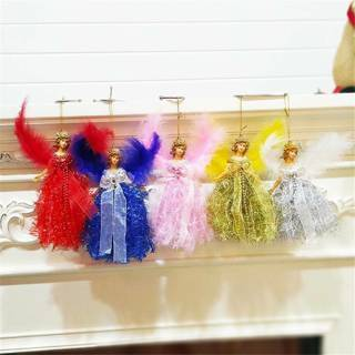 [GIN FOR FREE SHIPPING] Feather Angel Doll Hanging Christmas Tree Ornaments Home Decor