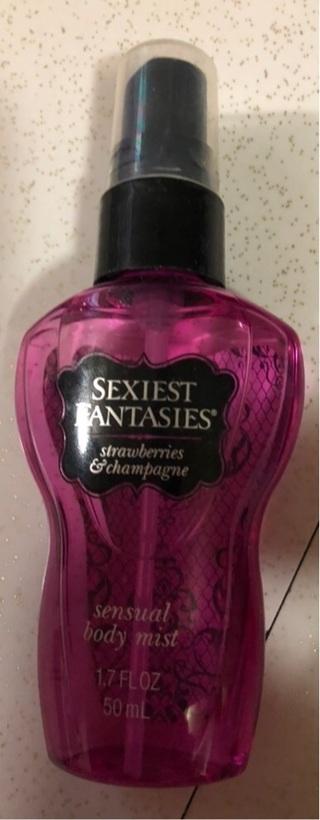 Sexiest Fantasies Strawberry & Champagne Sensual Body Mist 1.7 fl oz, New