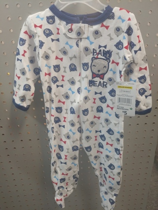 "NWT! Swiggles Baby Boys Sleeper ""BABY BEAR"" Size: 3-6Mths 100% Cotton  Free Shipping"