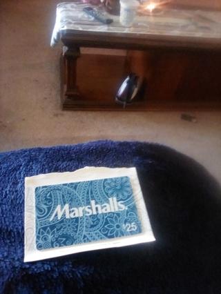 Marshalls gift card 25