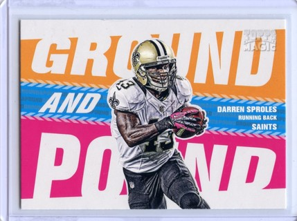 Darren Sproles-New Orleans Saints 2013 Topps Magic Ground And Pound #GAP-DS