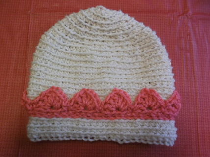PRETTY HANDMADE CROCHETED PRINCESS TIARA BEANIE FOR BABY