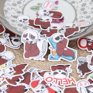 ⚡️ Red Skull Skeleton Kawaii High End Sticker Flakes BRAND NEW set of 10 Random Pick ⚡️