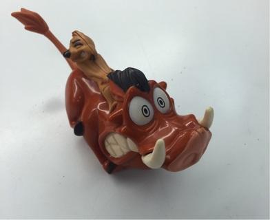 Disney Disneyland lion king toy timon pumbaa pull back