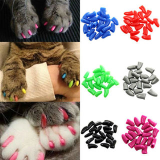 NH##20Pcs New Simple Soft Rubber Pet Dog Cat Kitten Paw Claw Control Nail Caps Cover