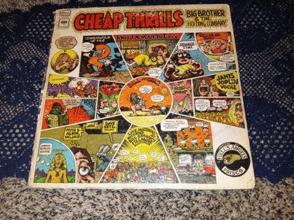 LP cover only no record of CHEAP THRILLS BIG BROTHER & THE HOLDING COMPANY