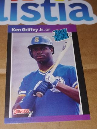 """THE KID"" KEN GRIFFEY JR⭐SEATTLE MARINERS⭐1989 DONRUSS #33⭐ROOKIE CARD!!⭐FREE $HIPPING"