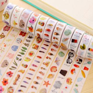 2 Roll New Random Paper Sticky Adhesive Sticker Photo Washi Tape Decor
