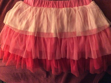 Tiered Ruffle Skirt of Pink Size 5