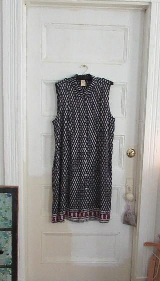 NWOT- BOHO NAVY DRESS--SLEEVELESS SZ XL (14-16)
