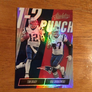 2018 Panini Absolute - One Two Punch #OTP-TR Tom Brady, Rob Gronkowski