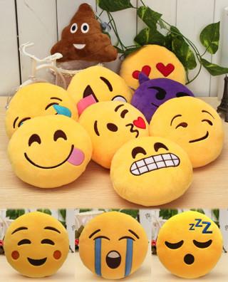 Smiley Face Plush Emoticon Emotional Emotions Cushions Emotions