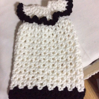 Hand Crochet liquid Dish Soap Dress .