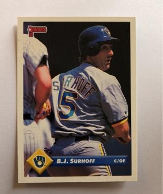 Free 1993 Donruss Baseball Card Bj Surhoff Sports Trading Cards