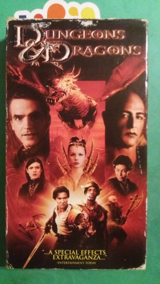 VHS  movie  dungeons & dragons  free shipping