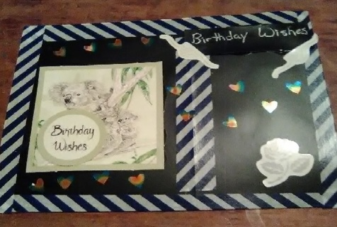 "' Birthday Wishes"" Design Blank Note Card"