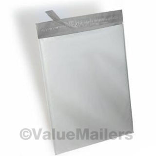"""(10) Lt Grey 4"""" x 6"""" Self Sealing Poly Mailers"""