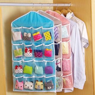 16 Pockets Charms Clear Over Door Hanging Bag Shoe Rack Hanger Storage Organizer