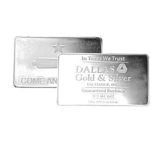 10 oz DGSE .999 AG Silver Bar BU - Cannon Symbol Stamped - Sealed - IN STOCK!!