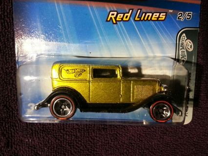 Free: Hot Wheels: Htf Midnight Otto: Red Lines:♡♥♡ Gold