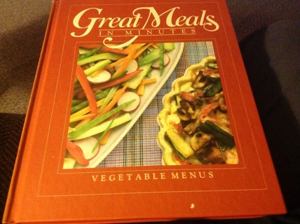 GREAT MEALS IN MINUTES (VEGETABLE MENUS) by  TIME LiFE BOOK S