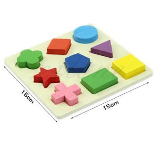 Geometry Block Puzzle Montessori Early Baby Kids Wooden Learning Educational Toy