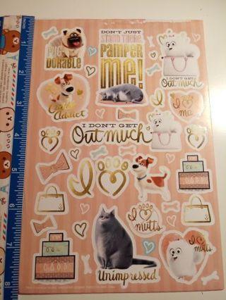 Puffy Secret Life Of Pets Stickers*Read Description