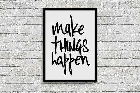 Make things happen 8.5 x 11 quote wall print decor