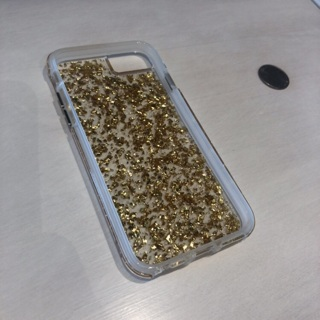 Almost New iPhone 7/8 Case • 24kt Gold Flakes • Excellent • Free Shipping