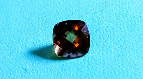 GEMSTONE BEAUTIFUL AND BIG 2.75 CARATS SMOKY TOPAZ FANCY CUT AND READY TO BE SET GRAB IT WHILE U CAN